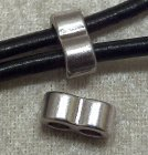 Connector/slider, 2 hål, antiksilver